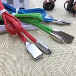 Cablu microusb cu mufe in carcasa de metal negru
