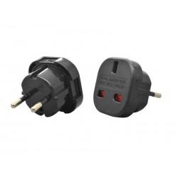 Adaptor stecher UK/USA/RO Negru