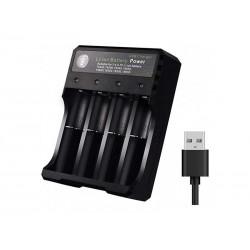 Incarcator 4 acumulatori litiu pe USB