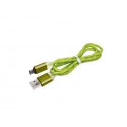 Cablu microusb gros gumat verde