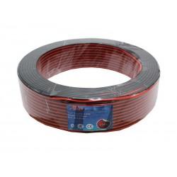 Cablu audio la metru rosu-negru 2x0,5mm